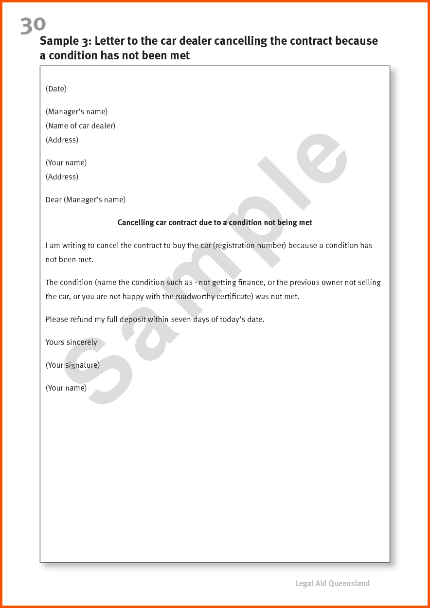 Auto Insurance Renewal Cancellation Letter How Write Sample