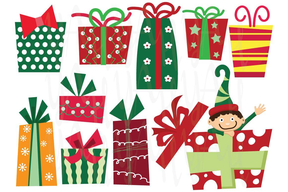 Christmas presents clip art cm015 15 images set of