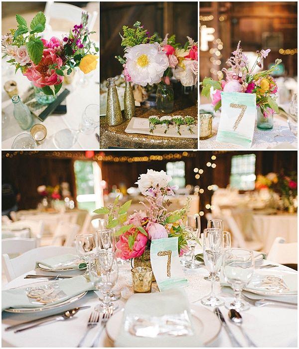Glamorous Wedding Ideas: Gold Glitter Barn Wedding