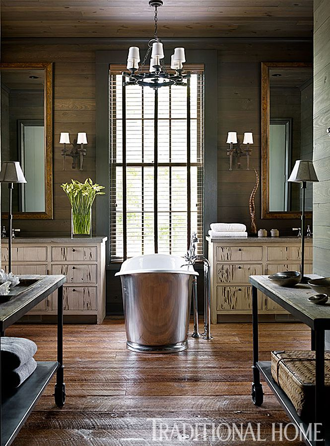Traditional Home Library Design Ideas: Rustic Bathrooms, Luxury Interior