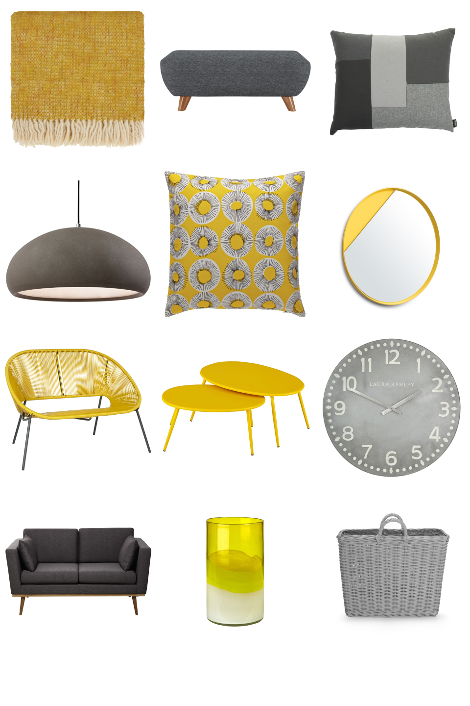 Yellow Grey Decor Furnishful S Other Ideas Inspiration Boards Grey And Yellow Living Room Yellow Decor Living Room Yellow Living Room Accessories