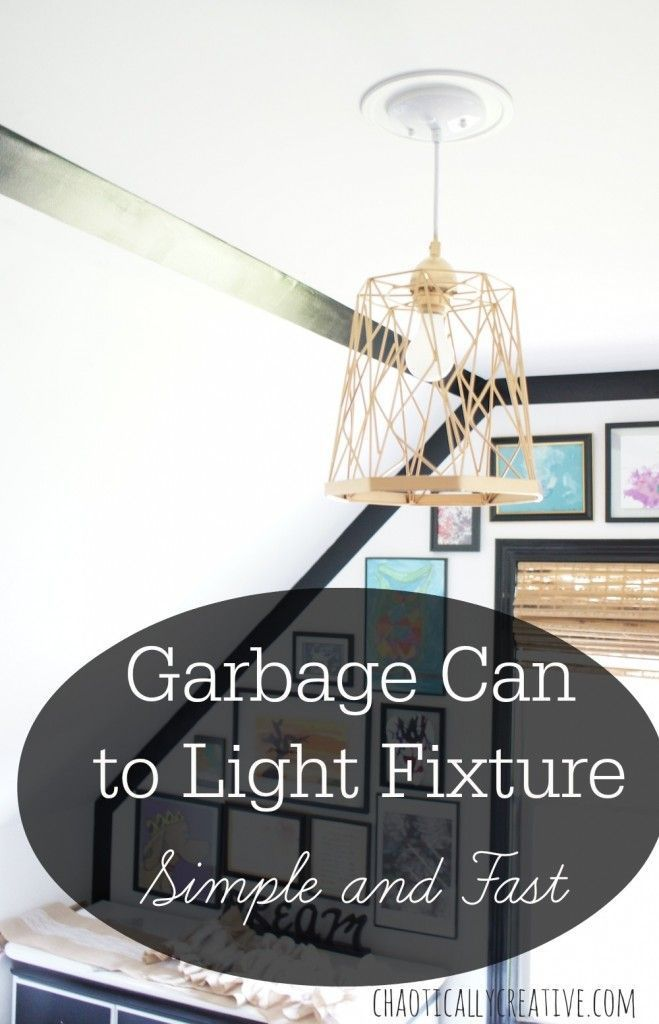 Trash Can Lights   Pinterest   Lights, Funky junk and DIY ideas