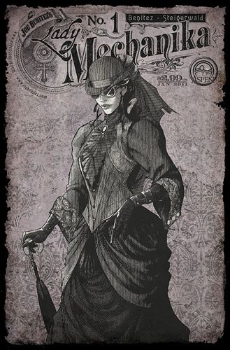 LADY MECHANIKA #4  ARC VARIANT SIGNED BENITEZ  /& STEIGERWALD