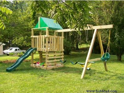 Free Wooden Playset Swing Set Plans Ideas For Kody Wooden