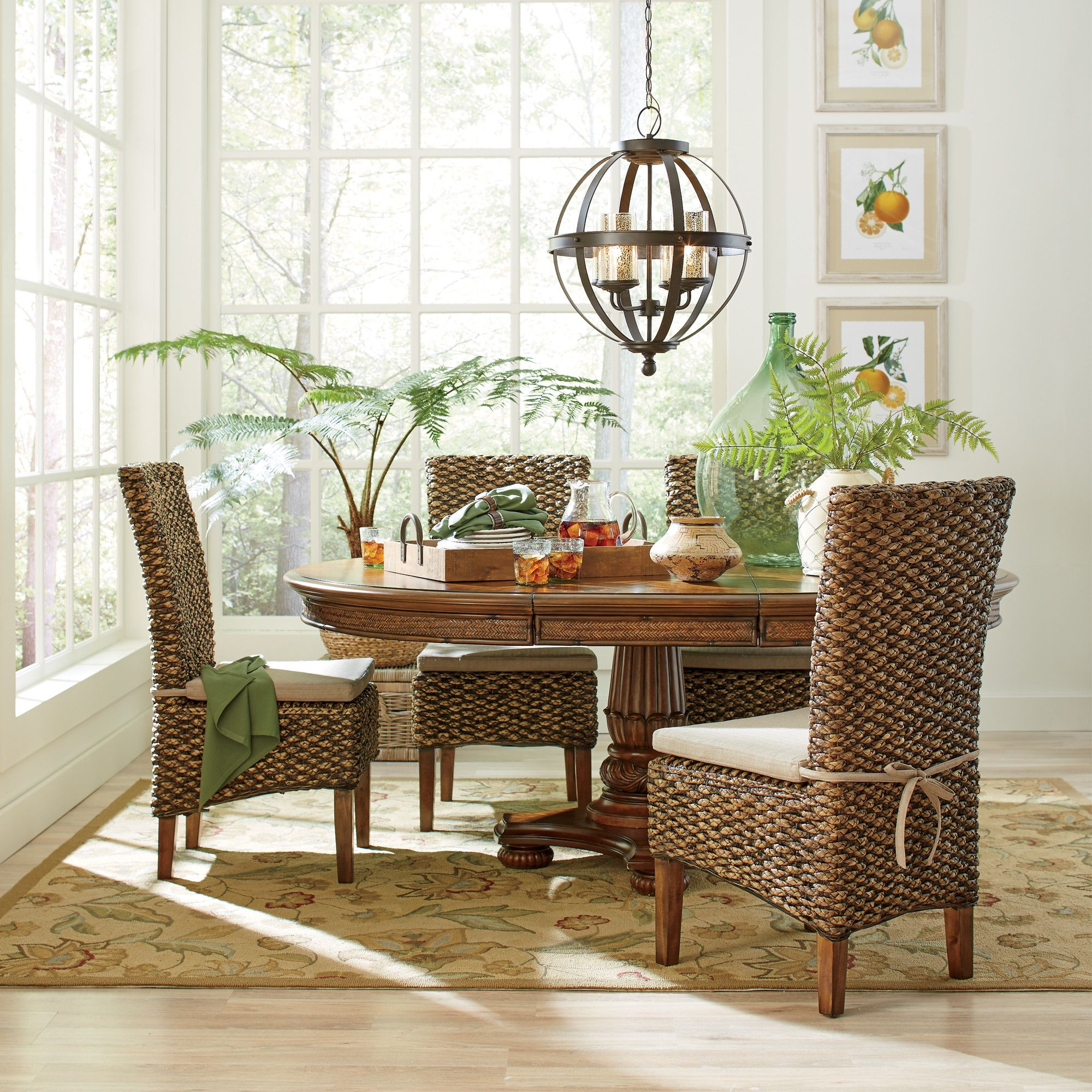 Birch Lane Woven Seagrass Side Chairs