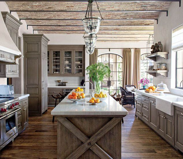 Peonies And Orange Blossoms Cerused French Oak Kitchens Cabinets Kitchen Trend 2016