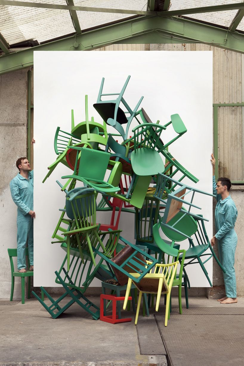 Silvio Teixeira The Green Chairs Video Installation Green Chair Art Chair Chair Photography