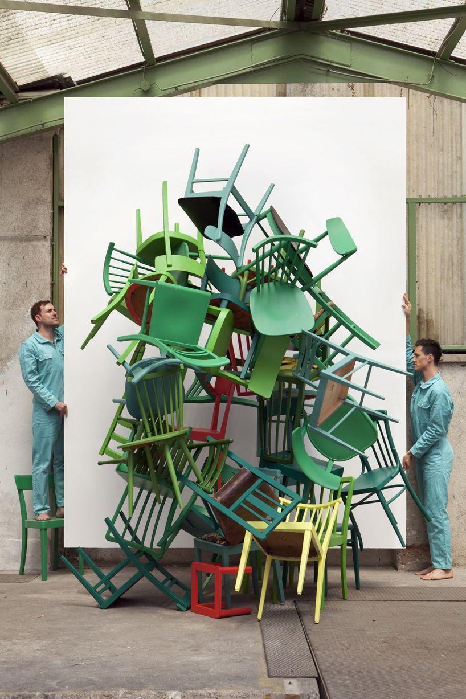 Silvio Teixeira The Green Chairs Video Installation Green Chair Art Chair Chair Photography