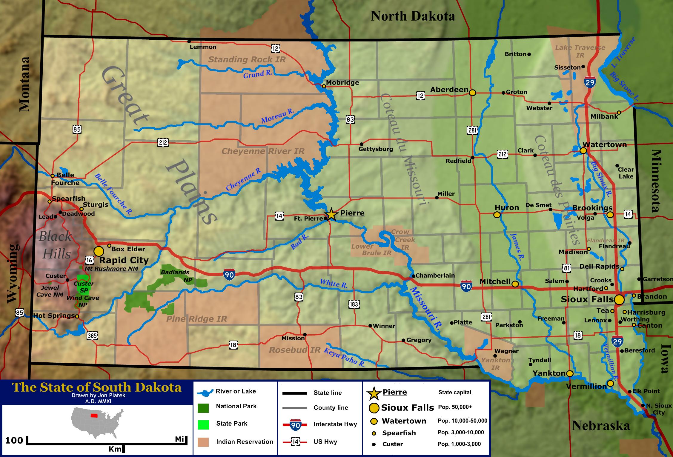 South Dakota 1879 Landmark Map Google Search