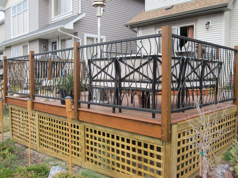 Make Your Deck Stand Out With Our Unique BENT Iron Railings. Description  From Chromedomedesigns.
