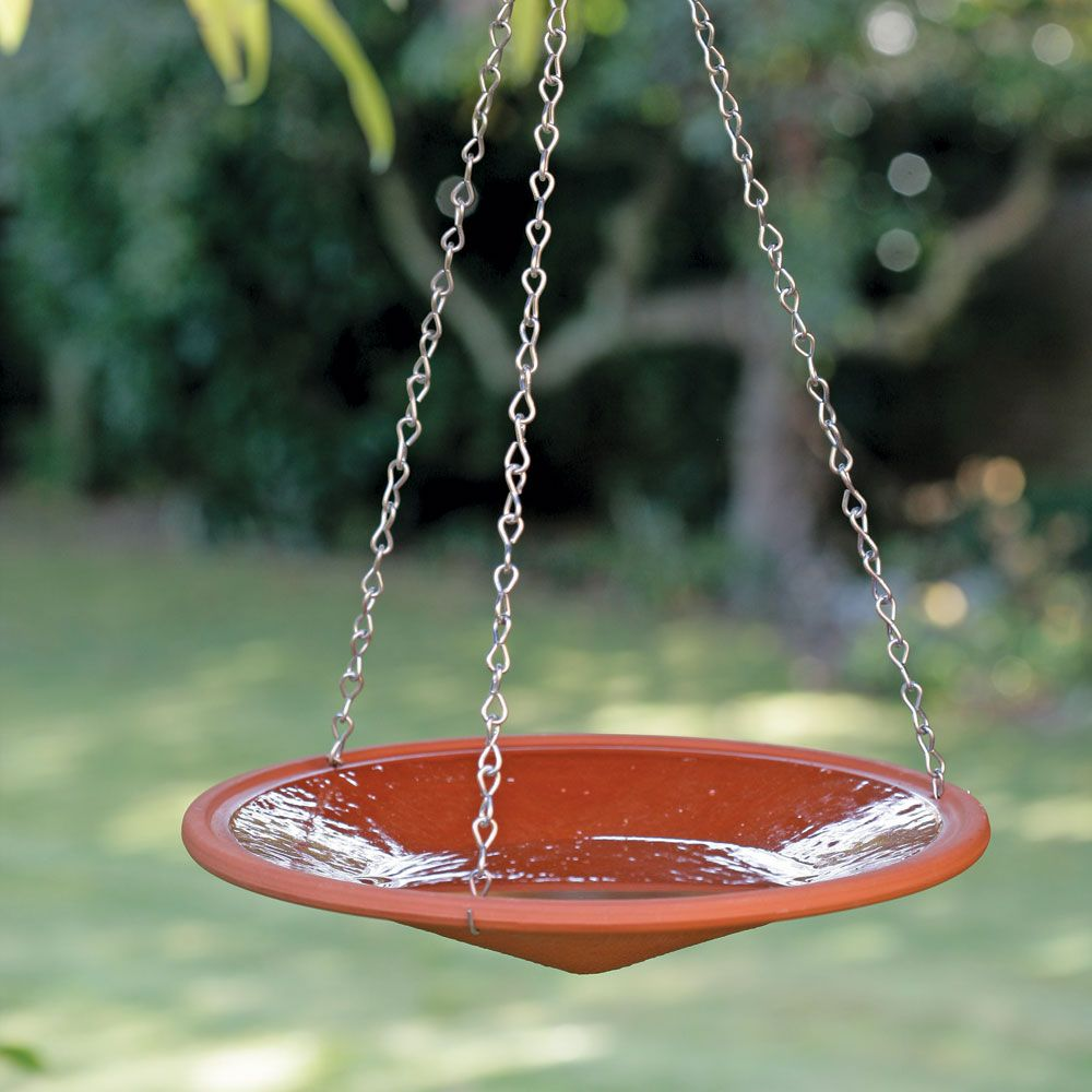 Terracotta hanging bird bath garden pinterest hanging bird bath