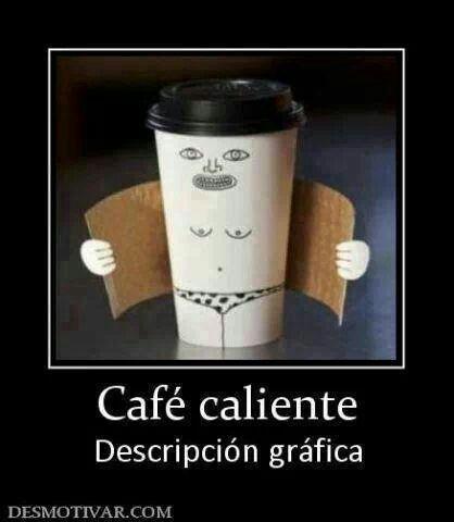 Café caliente descripción gráfica