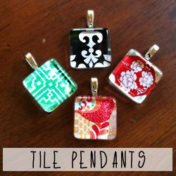 Frame your favorite images and turn them into a classy glass tile pendant.
