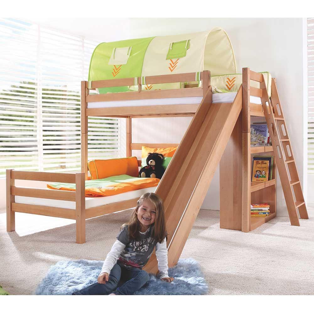 l form etagenbett aus buche zwei rollroste jetzt bestellen. Black Bedroom Furniture Sets. Home Design Ideas
