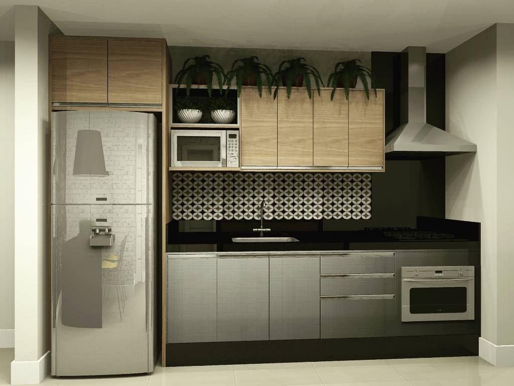 Projeto Cozinha Planejada Para Apartamento Pequeno