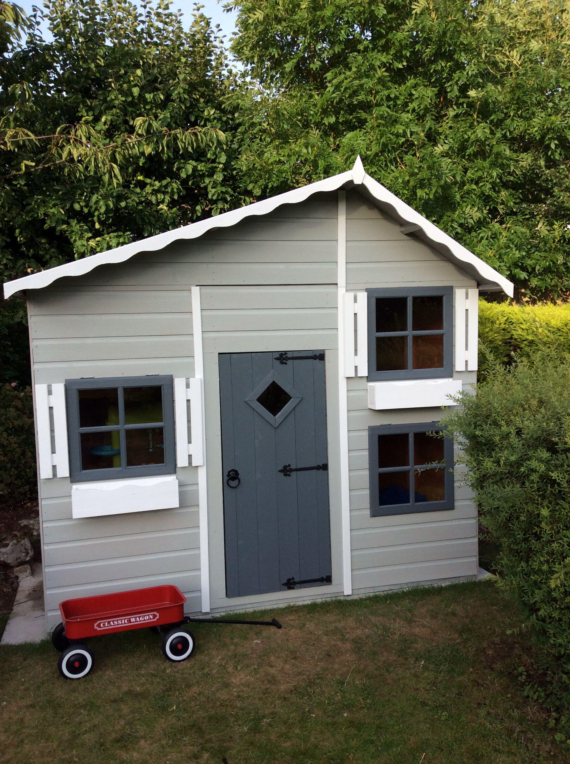 grey wooden playhouse play room pinterest wooden playhouse