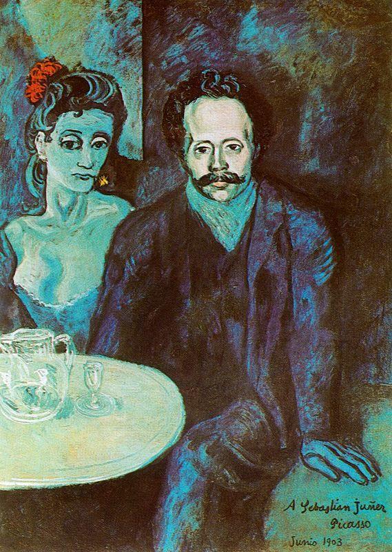 Пабло Пикассо. Портрет Себастьяна Видала с женщиной. 1903 ...