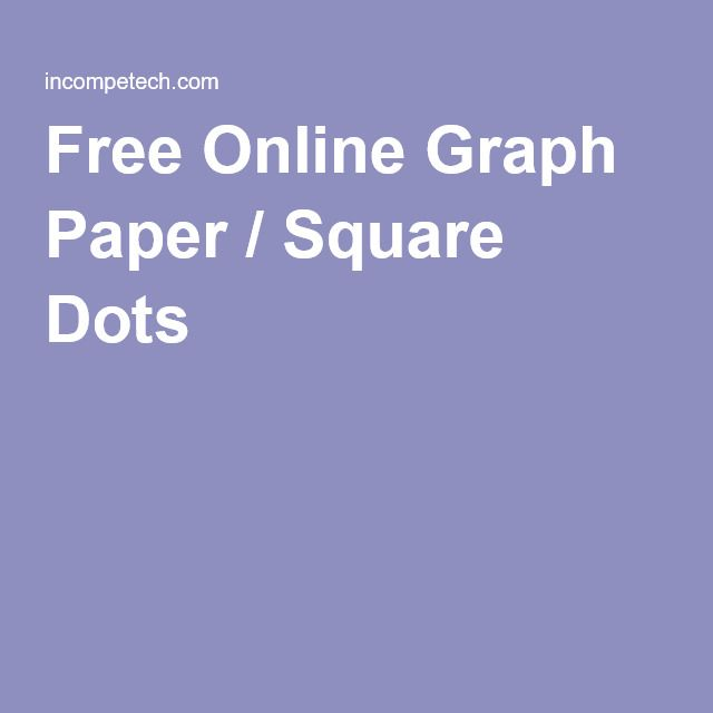 Free Online Graph Paper / Square Dots - Minimum Border 03 inches - incompetech graph paper template