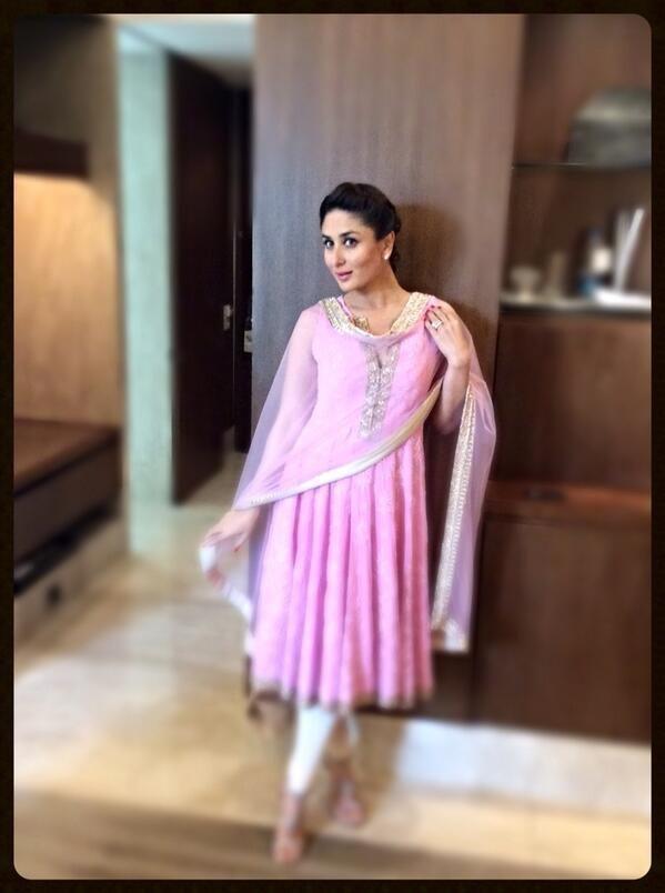 Kareena Kapoor in pink salwar suit by Manish Malhotra