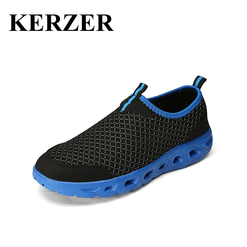 d9955ee7774e KERZER Outdoor Mens Shoes Aqua Water Sneakers Breathable Walking Water Shoes  Cheap Men Sports Sandals Lightweight
