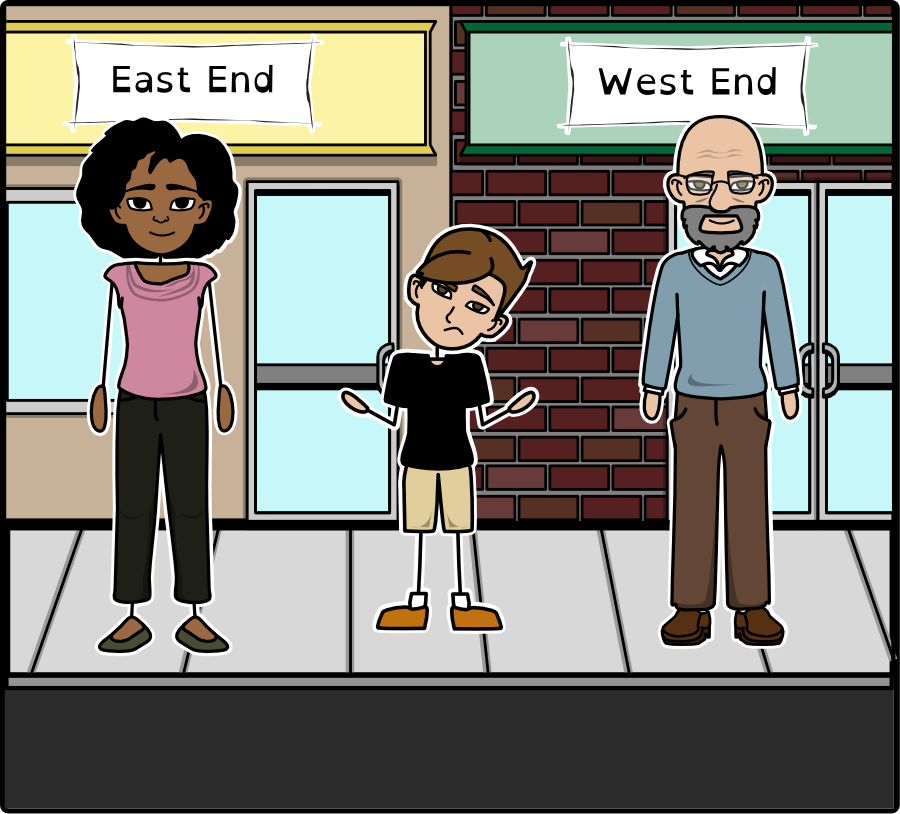 In Two mills  East Enders were black and West Enders were white