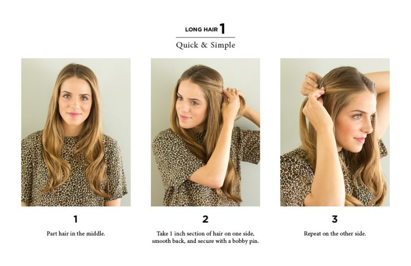 10 Easy Ways to Style Hair | Long short hair, Short hair and Hair ...