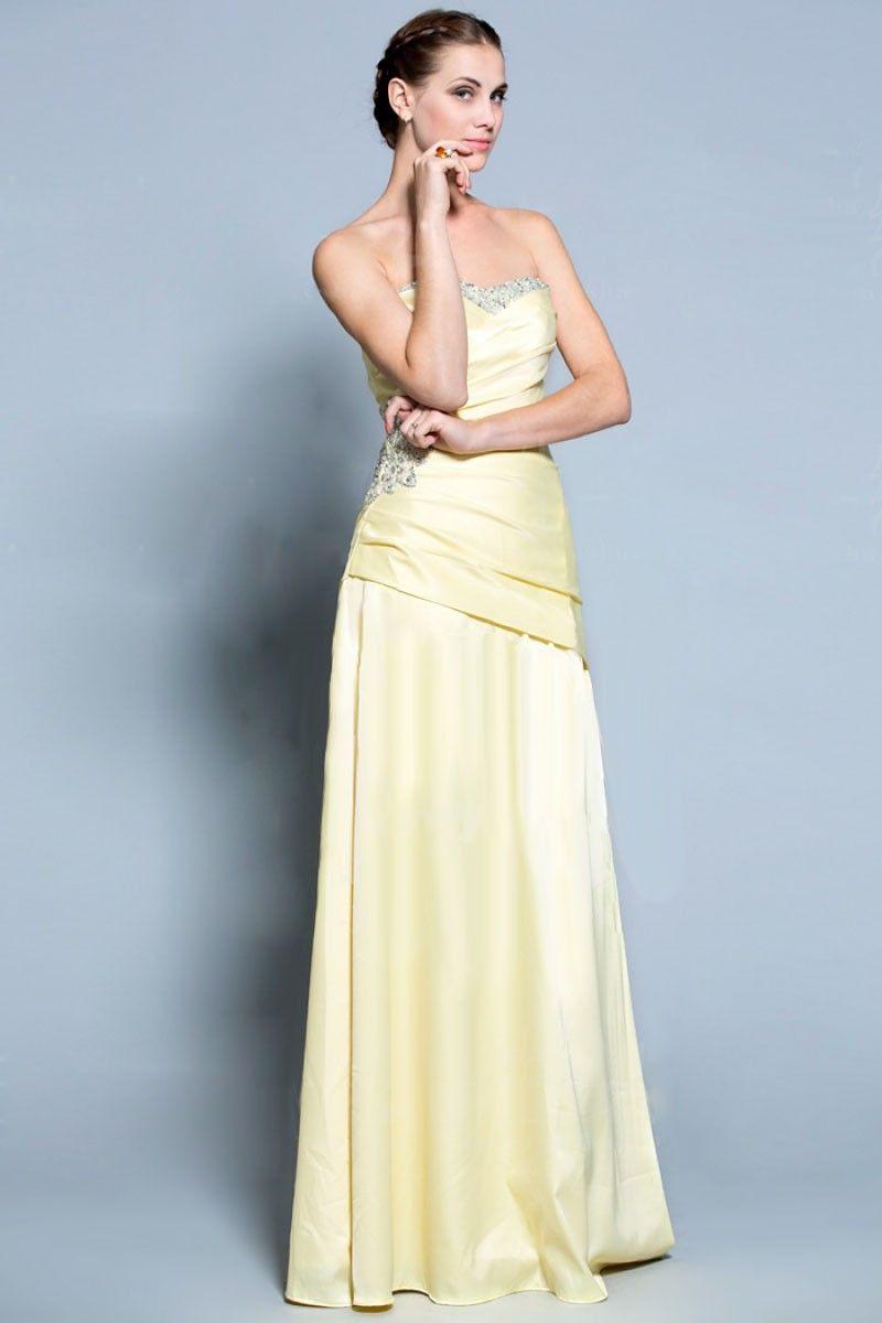 $168.89 Elegant Sweetheart Beads Satin A-line evening dress -Evening Dresses-DeniseDress