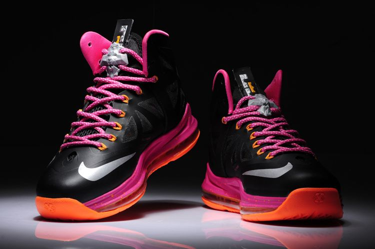 Lebron 10 Floridian Womens Black Pink Orange [Nike Basketball Shoes 160] -  $56.92 :