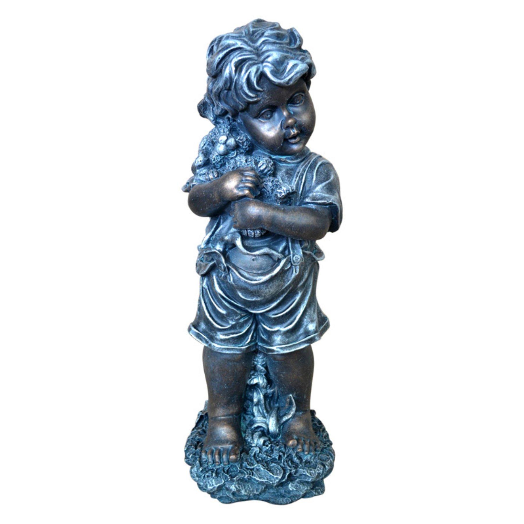Jeco Boy Copper Garden Statue  Odgd018