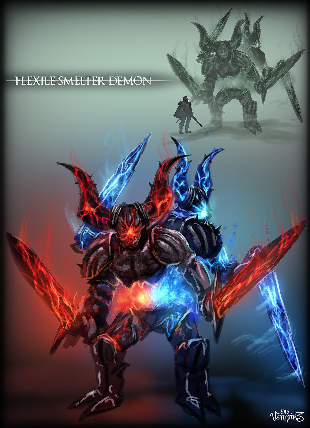 Flexile Smelter Demon By Vempirick Dark Souls Art Dark Souls 3