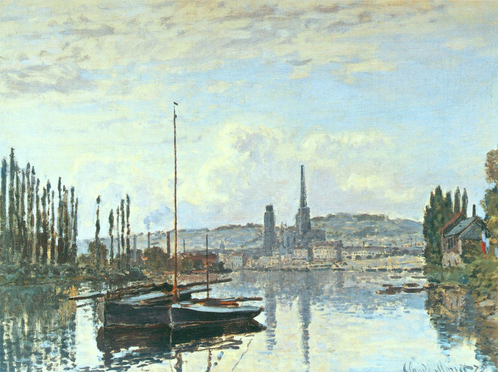 View of Rouen by @claude_monet #impressionism