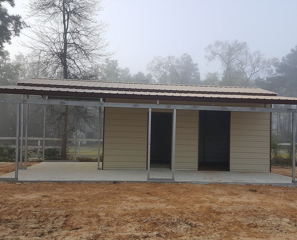 27 Partially Enclosed Carport with LeanTo (With images