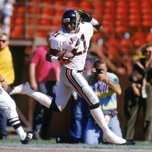 Deion Sanders I Love A Showboat Who Can Back It Up I Can Think Of Few More Talented Football Players Than Primetime So Much Football Falcons Football Nfl
