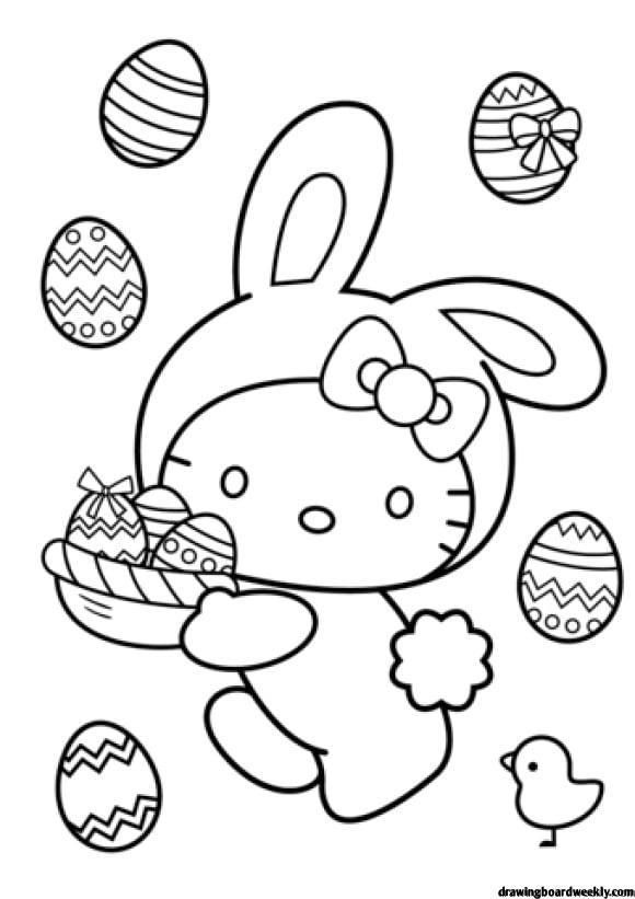 Easter Bunny Coloring Page   Bunny coloring pages, Hello ...
