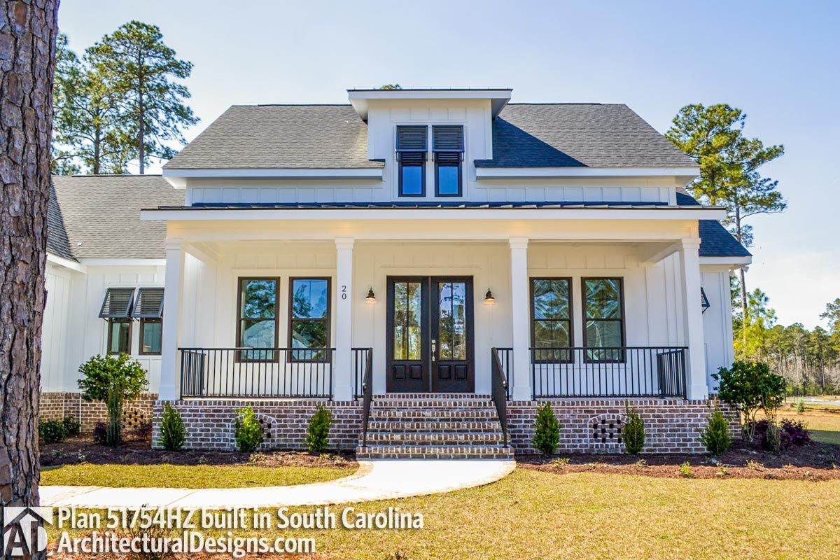 Modern Farmhouse Plan 51754hz Built In South Carolina Photo 010 Modern Farmhouse Plans Farmhouse Plans House With Porch