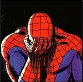 Spiderman Facepalm Peter Parker Marvel Spiderman