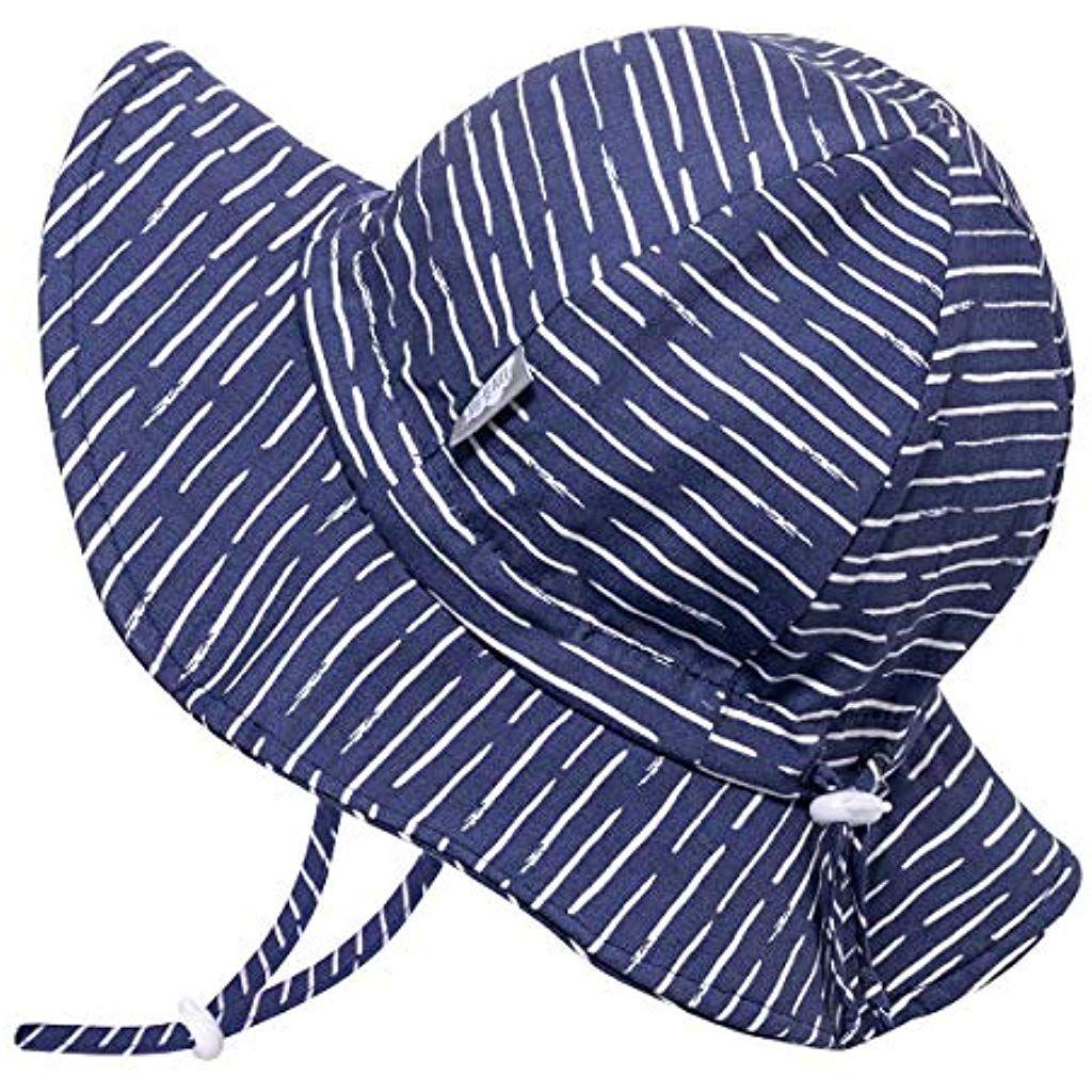 Breite Krempe UV Schutz 50 Baumwoll-Sonnenhut verstellbarem Kinnriemen Jan /& Jul Baby Kinder Kleinkind