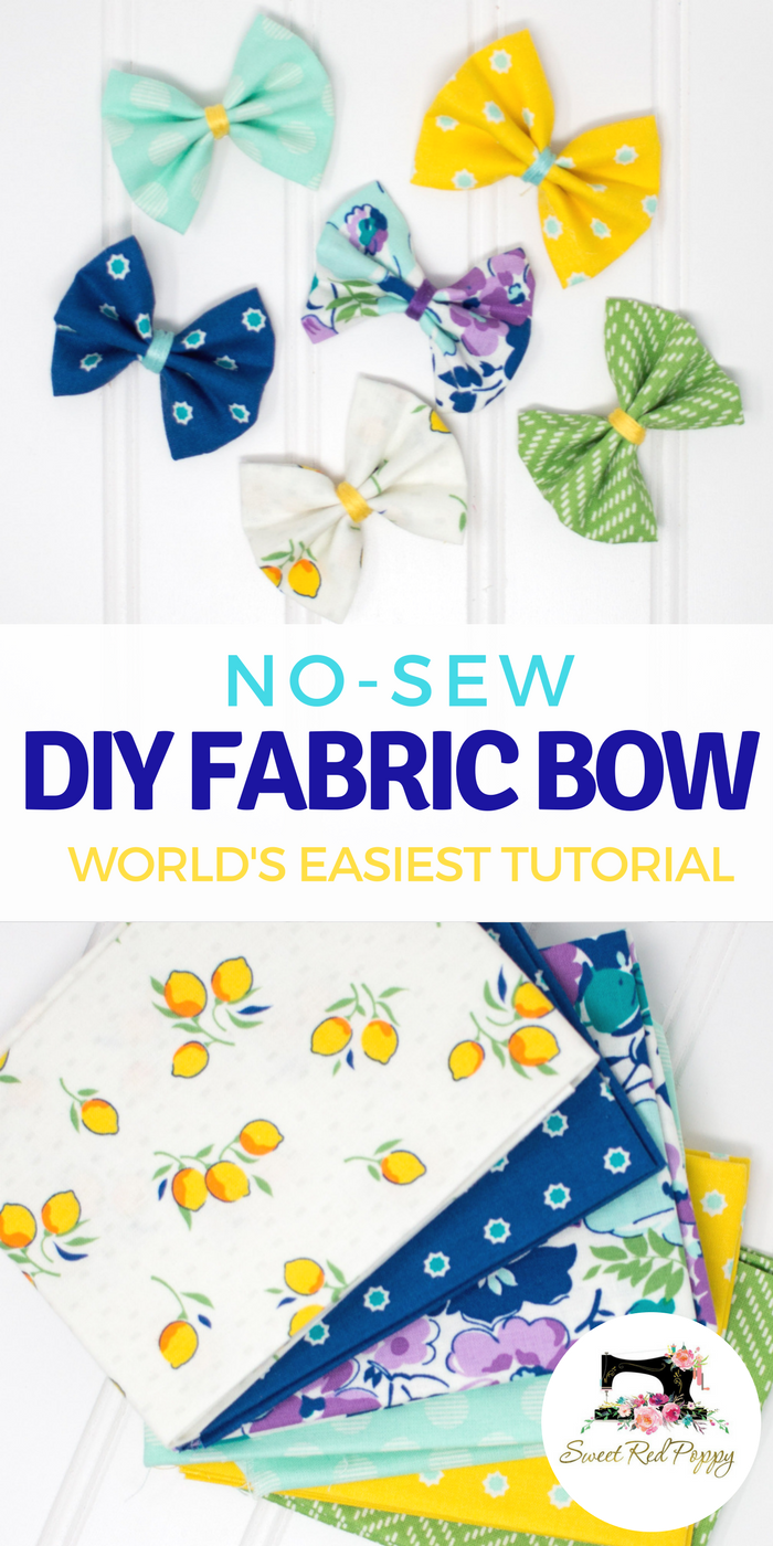 No Sew Fabric Hair Bows Tutorial