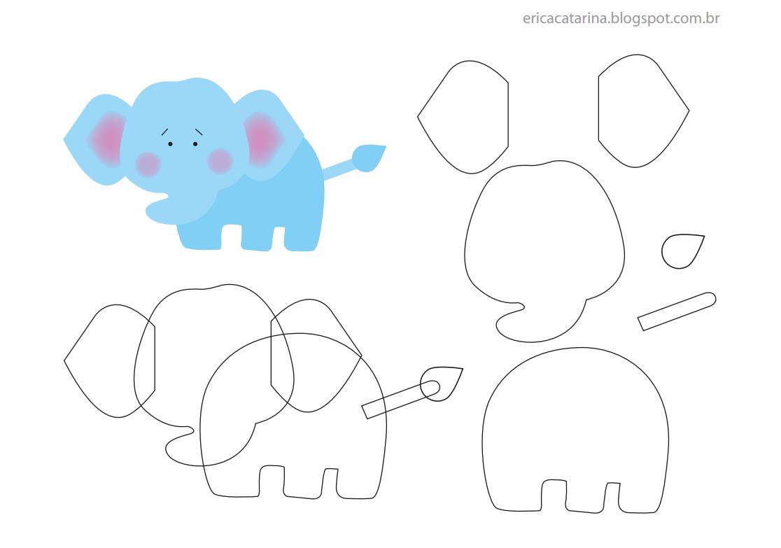 elefante - Érica Catarina | BAUTIZO | Pinterest | Moldes, Fieltro y ...