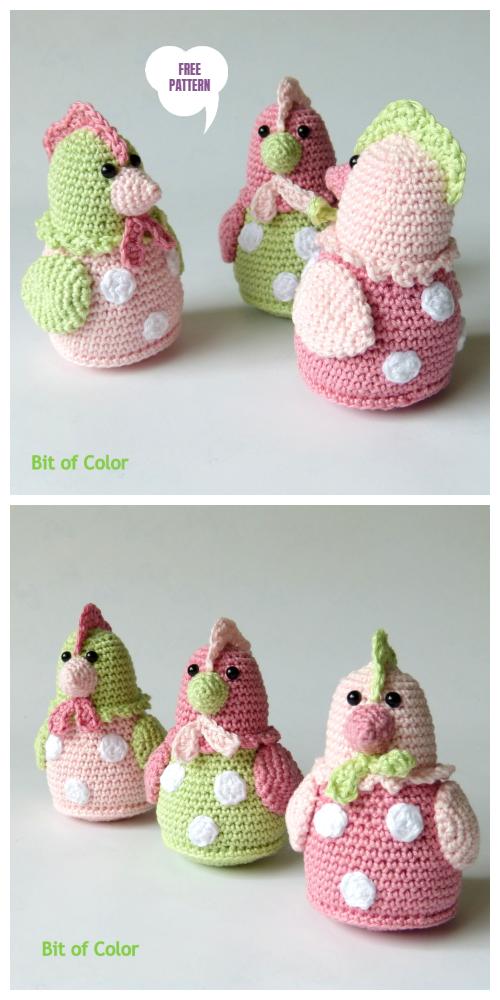 Vintage Crochet Easter Chicken Amigurumi ... - #kids clothing