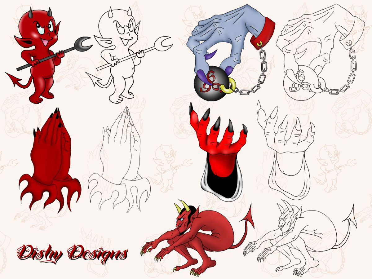 baby devil tattoo google search artdesign devil