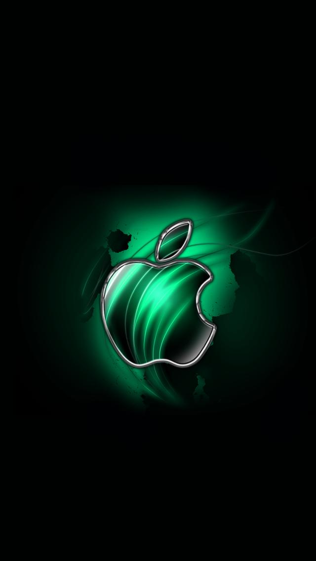 Swirly Apple Green Apple Wallpaper Apple Wallpaper Iphone Apple Logo Wallpaper Iphone