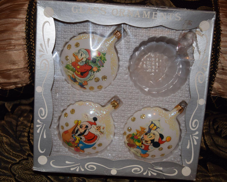 Disney tree ornaments - Walt Disney Co Glass Christmas Tree Ornaments By Hellonikita On Etsy