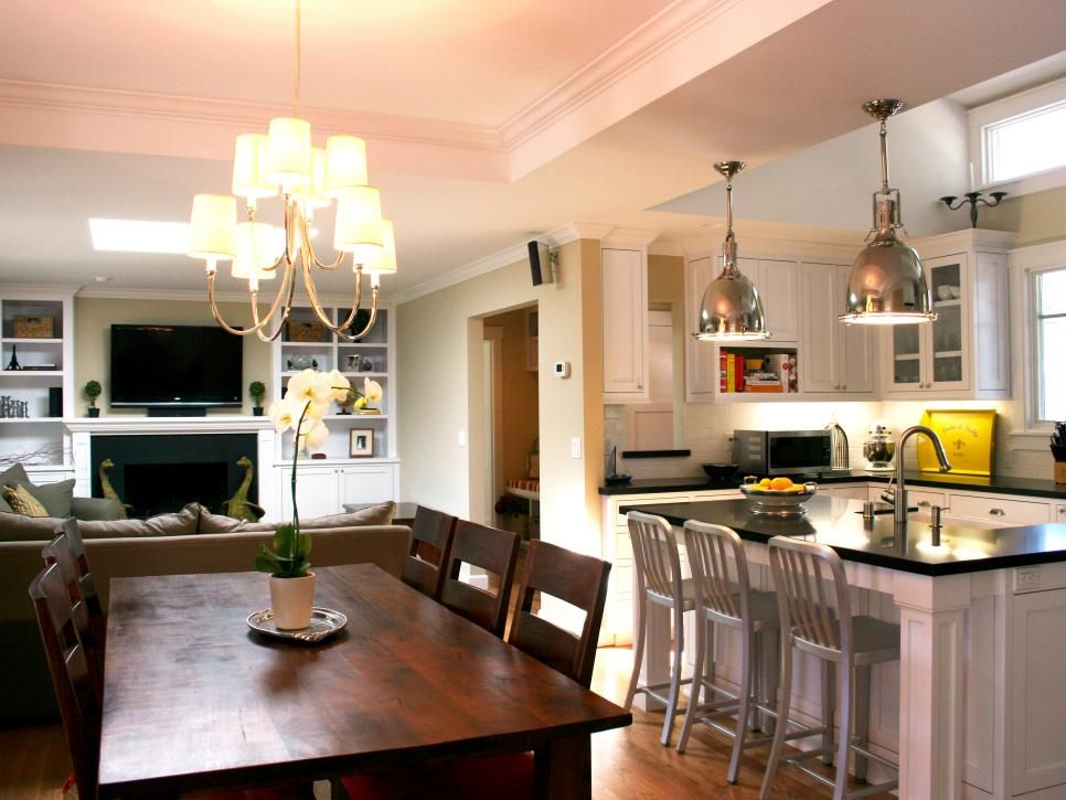 Maximize Living Space By Combining Where Possible Your Kitchen And Dining Room Here
