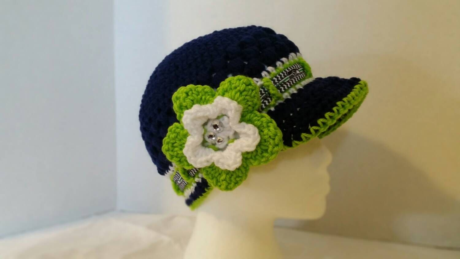 Seattle Seahawks superbowl ladies 12th man brimmed hat Nfc champs Newsboy  NFL Inspired Crochet newsboy knit beanie Football themed beani by Blissfulloops on Etsy https://www.etsy.com/listing/169380659/seattle-seahawks-superbowl-ladies-12th