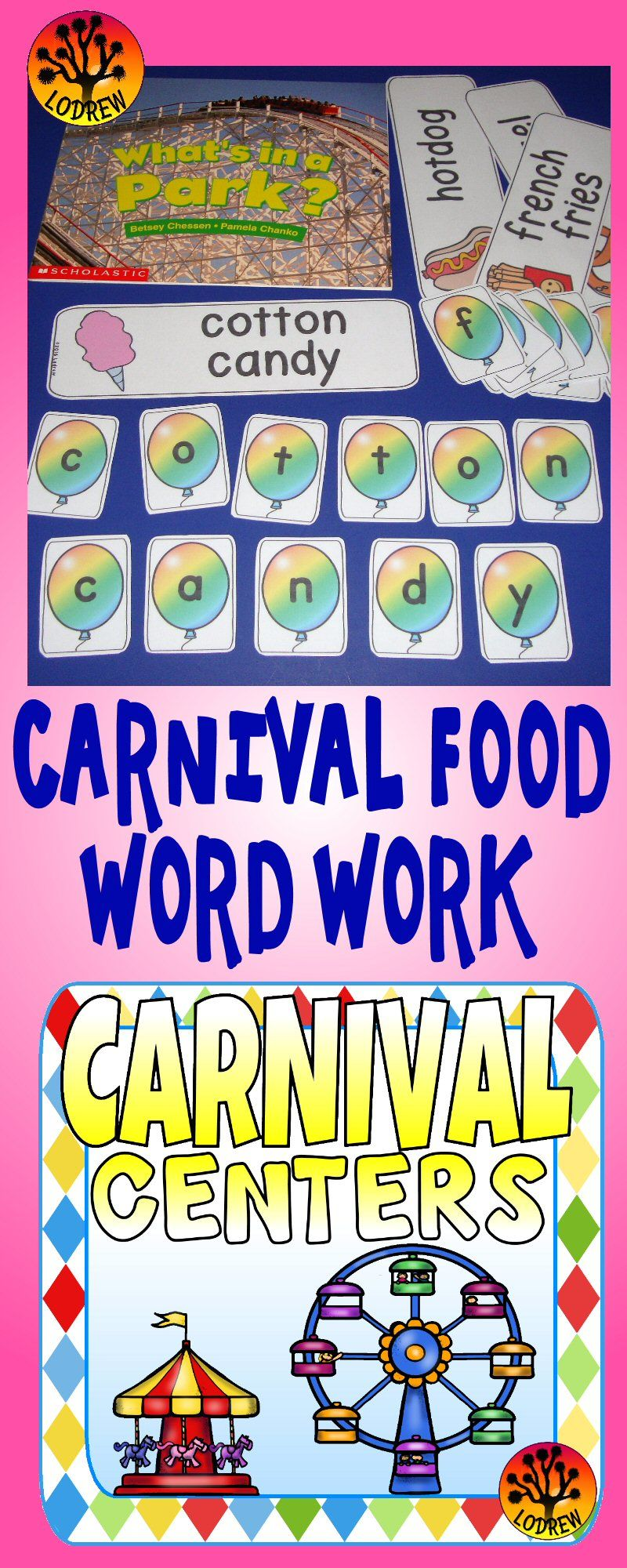 114 Pages Of Centers For Your Carnival Unit Or Amusement Park Theme Engaging Skill Building Ac Preschool Math Family Literacy Night Activities Literacy Night [ 2000 x 800 Pixel ]