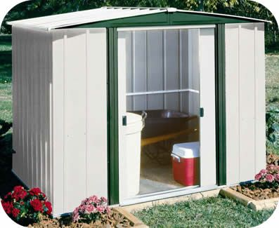 44995 hamlet 6x5 arrow metal storage shed kit