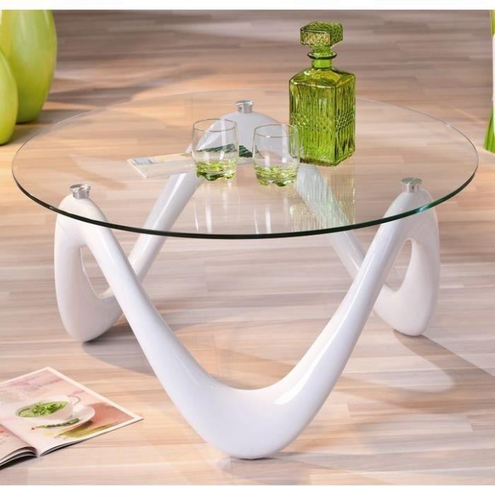 table basse verre design valentine