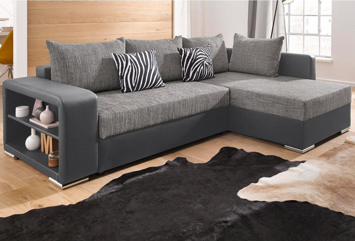 Ecksofa Mit Bettfunktion Wahlweise Mit Federkern Couch Sofa Home Decor