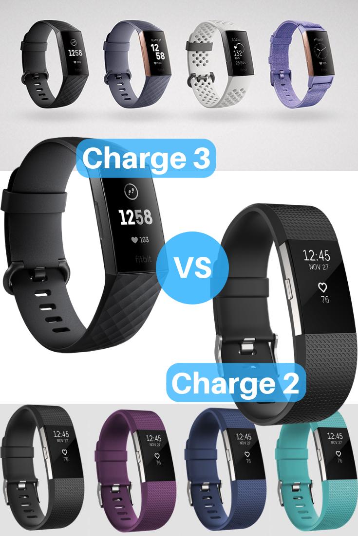 Fitbit Charge 3 Vs Fitbit Charge 2 Fitbit Fitbit Charge Fitness Watch Tracker